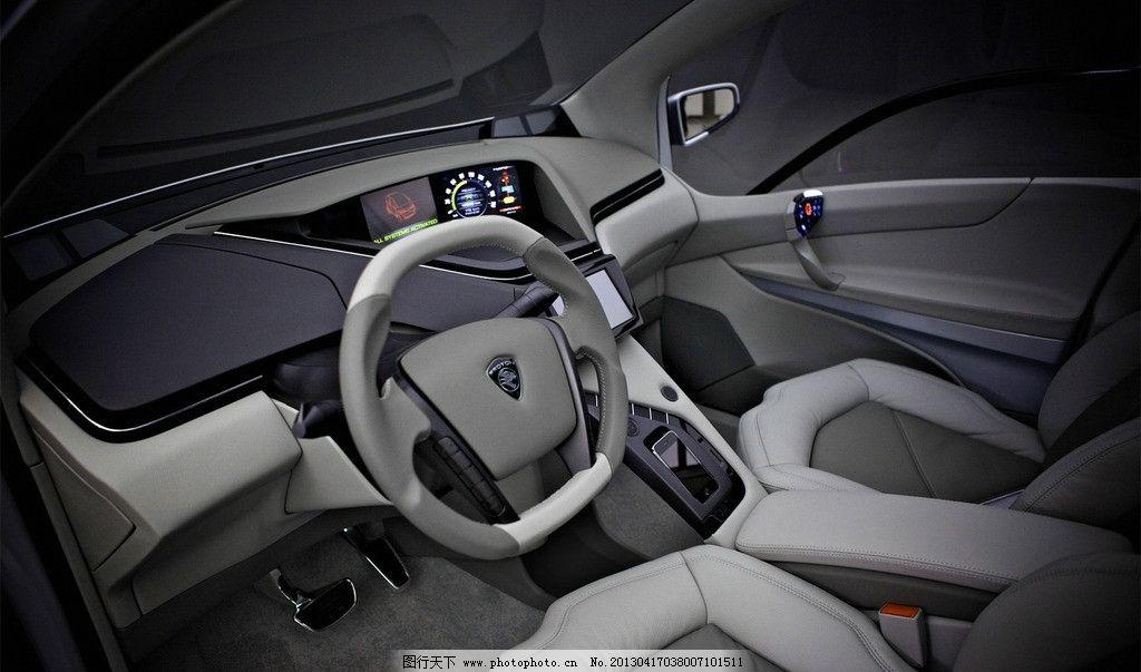 汽车内饰 方向盘 座椅 驾驶室 仪表盘 导航仪 真皮座椅 档位 变速器