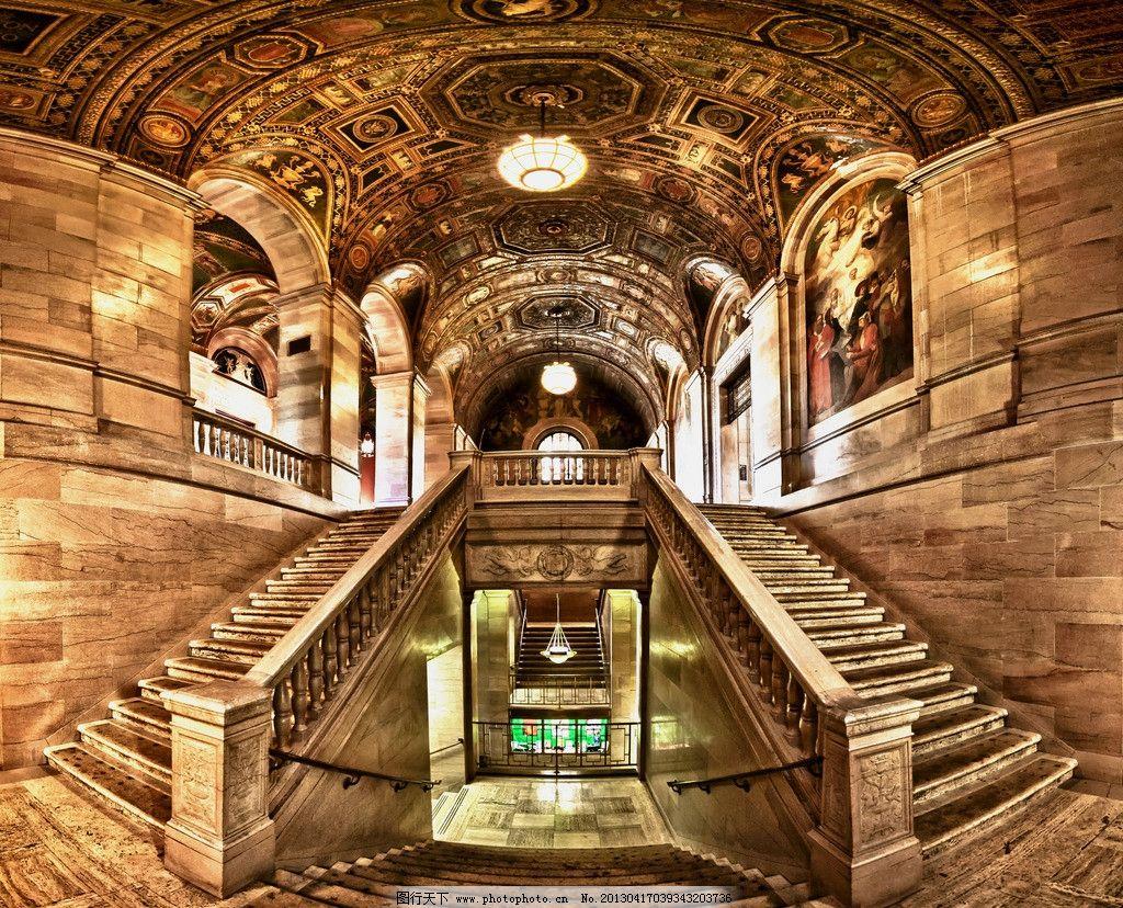 欧式大堂 楼梯 古代建筑 欧式