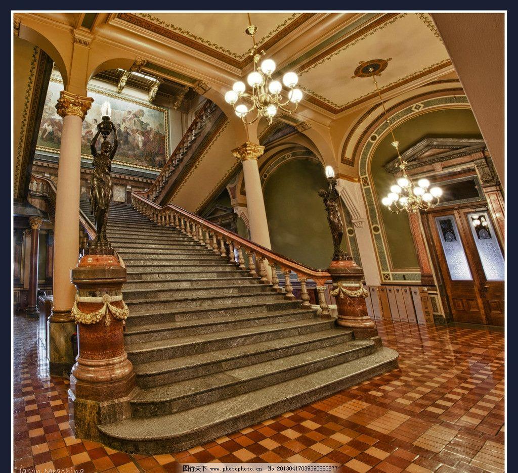 欧式大堂楼梯图片