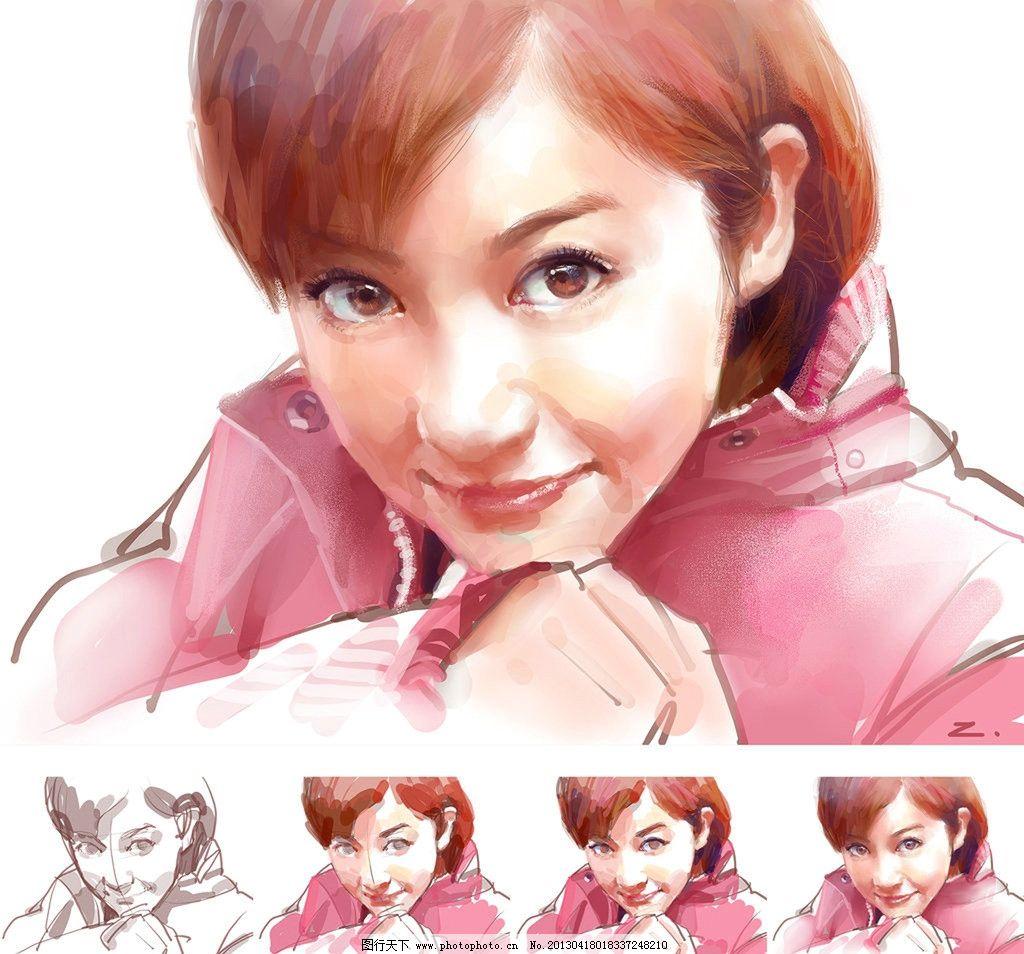 插画人物 绘画步骤 画美女的方法 大眼睛 美女 插画美女 动漫人物