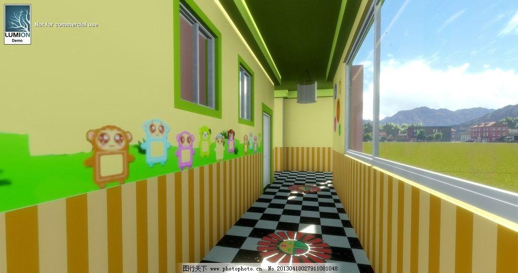 幼儿园走廊设计图片