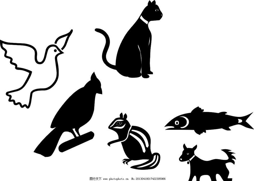 动物标志 卡通 素描 标志
