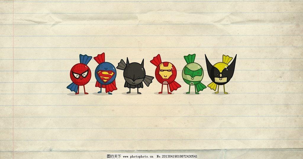 卡通蜘蛛侠 钢铁侠 蜘蛛侠 超人 人物 动漫人物 其他 动漫动画 设计