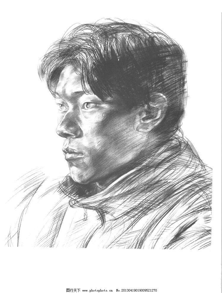 头像 素描      半身像 美术 绘画 图画 美术高考 艺考 男青年 四分之