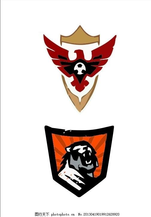 盾牌logo 狮 鹰 盾牌 盾 外国 国外 西方 欧美 西式 欧式 简洁 简单
