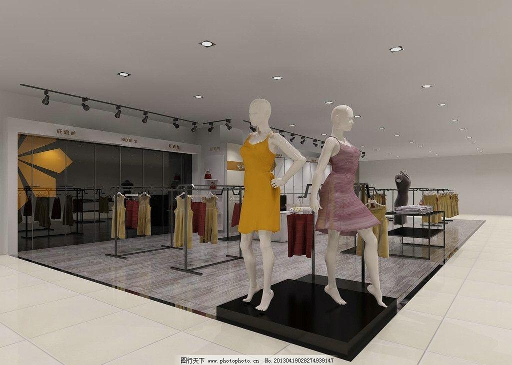 女装店面装修效果图图片