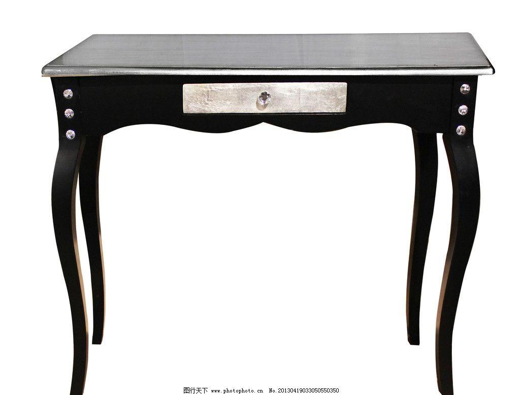 黑色桌子图片,欧式桌子 银色桌子 皮革桌子 高档桌子