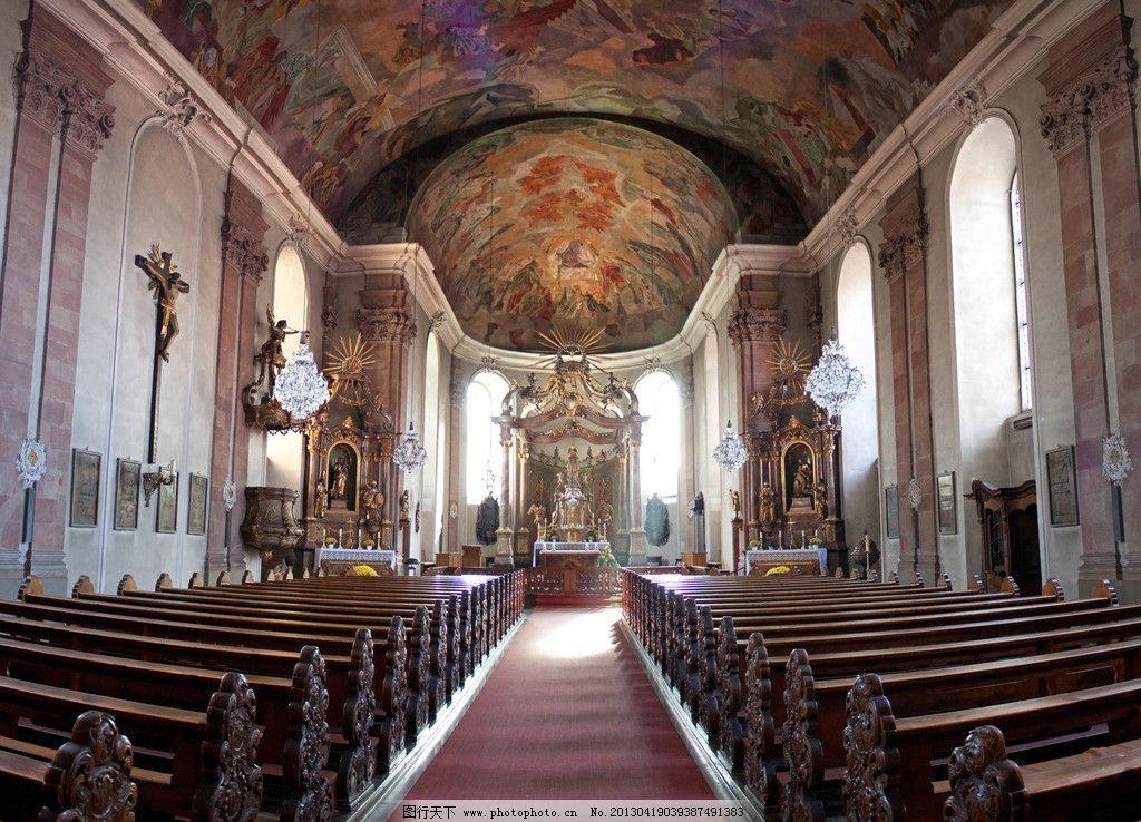教堂 欧式 天花 吊顶 拱门 餐厅 过道 走廊 雕花 罗马柱 房地产素材