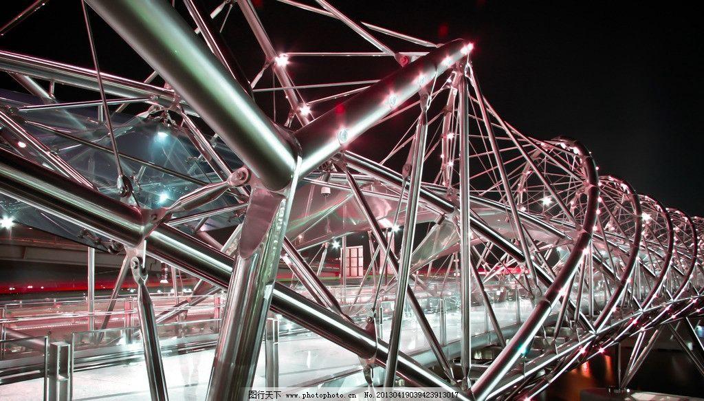 金属结构 天桥 钢管 框架 建筑 特色建筑 走廊 时尚 扭曲 艺术