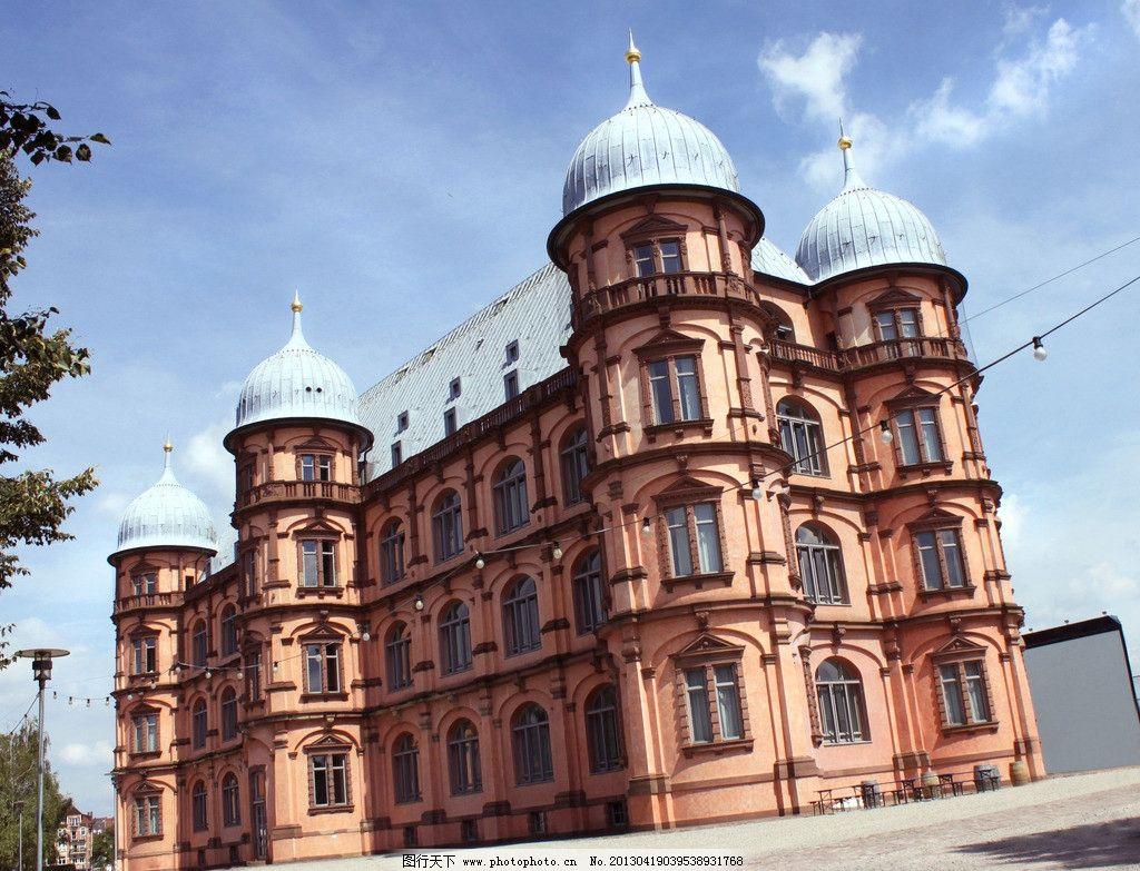 欧式 别墅 古典 房地产素材