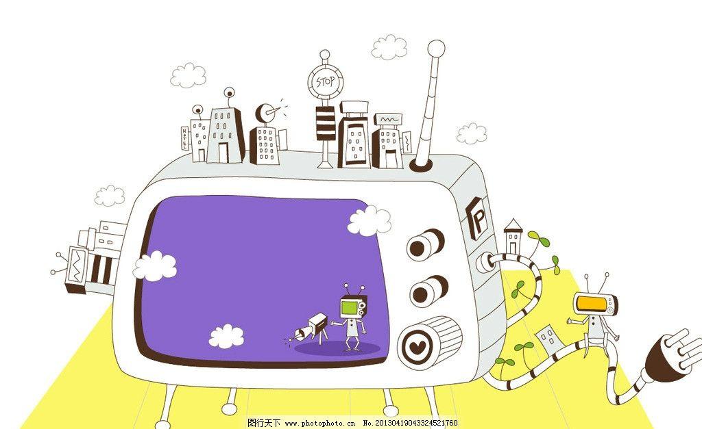 媒体播放器 彩色电视节 机器人 信号接收器 儿童音乐 视频播放器 家