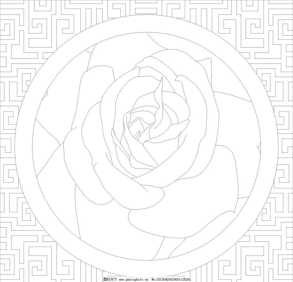 挂件 玻璃矢量图 玻璃挂件 玫瑰花 线图 玻璃线图 美术绘画 文化艺术