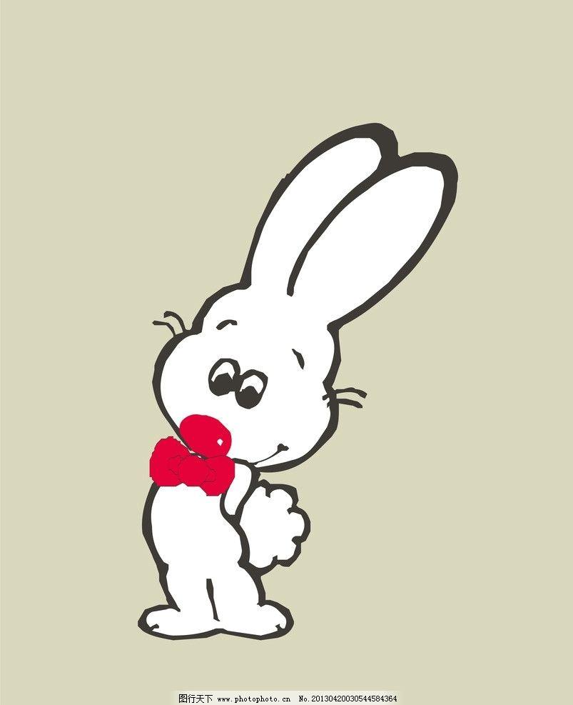 可爱卡通 印花矢量 卡通动物 长耳朵 红色 女童
