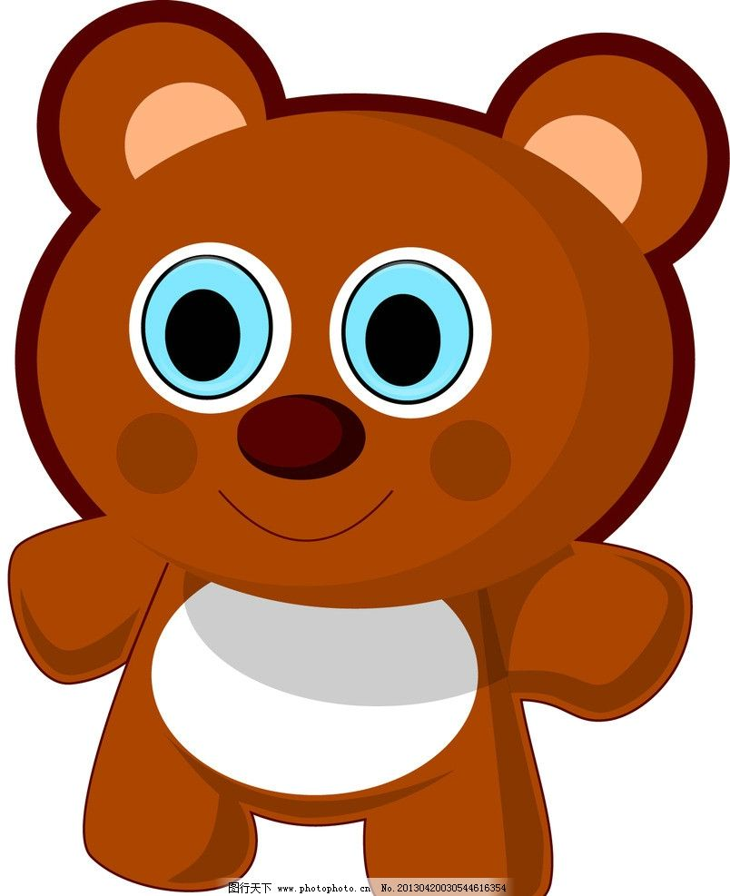 小熊图标 卡通小熊 可爱小熊 图标小熊 矢量