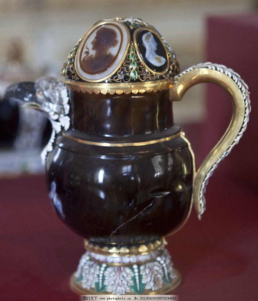 宫廷饰品 法国 欧式 皇室 宫廷 瓷器 工艺品 花瓶 铜艺 彩绘 传统文化