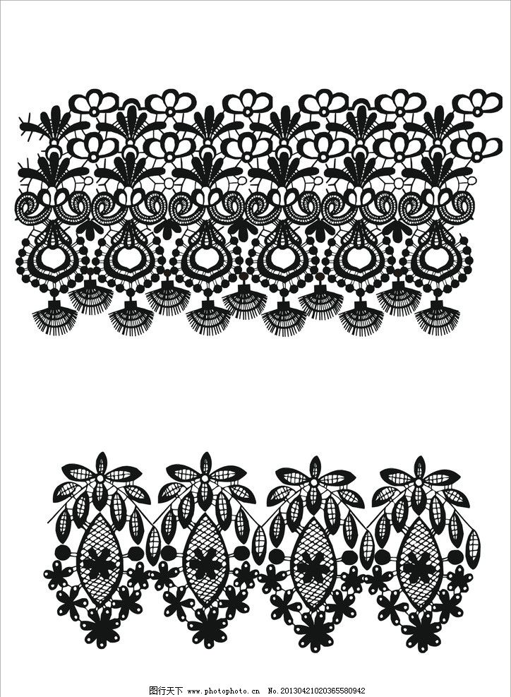 花边 边框 复古 哥特 时尚 蕾丝花边系列 花纹花边 底纹边框 矢量 cdr