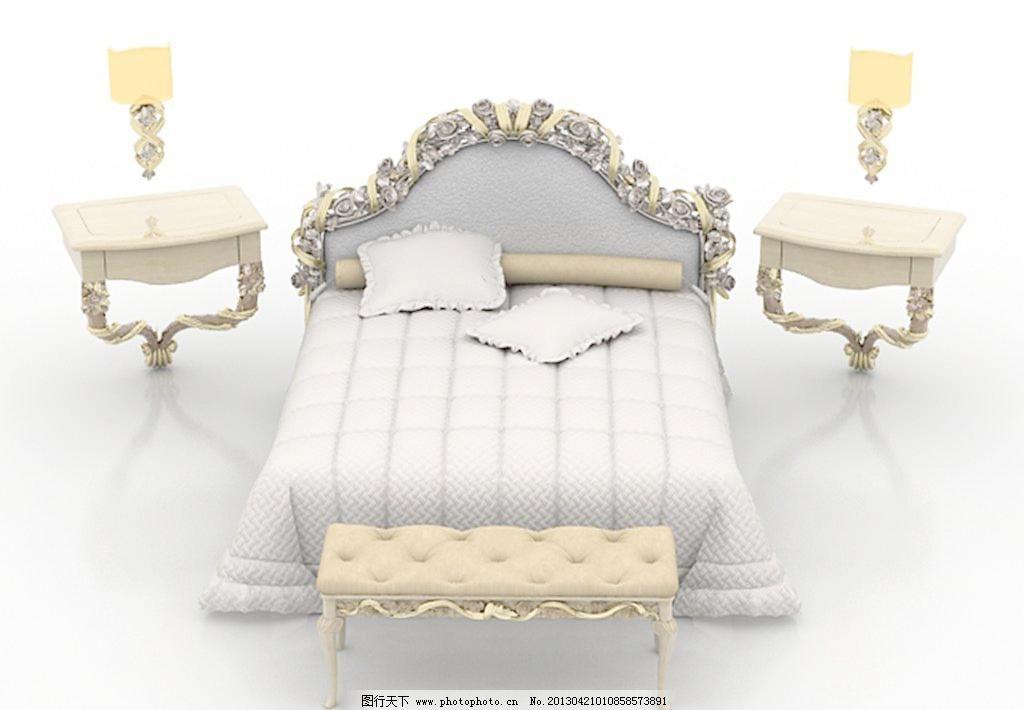 漂亮的欧式床图片