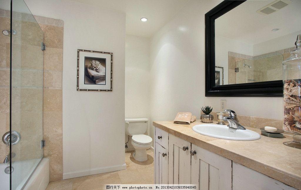 洗手间实景照 北欧风格 美式 装修 楼中楼 挑高 美式风格        别