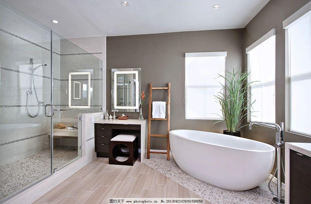 别墅洗手间 欧式