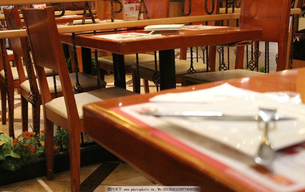 餐厅一角 西餐厅 室内装修 桌椅 餐桌 欧式装潢 其他 建筑园林 摄影