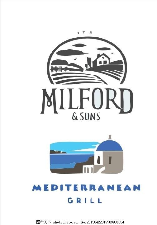 旅游logo 野外 郊游 外国 国外 西方 欧美 西式 欧式 简洁
