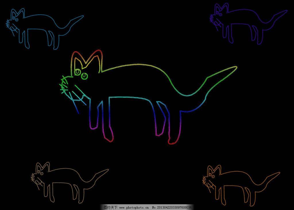 狸猫 手绘猫