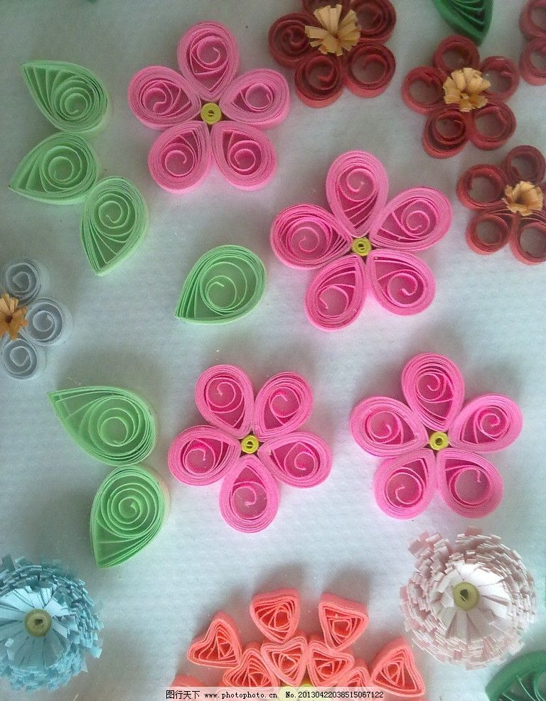手工制作 瓶 衍纸 花 花朵 摄影