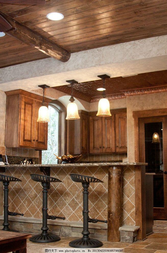 吧台灯 北欧风格 美式 装修 大厅 餐厅 餐馆 吧台 椅子 大船 吊顶