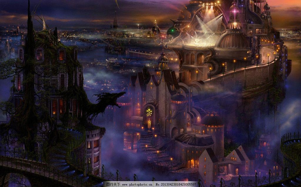 动漫游戏场景 cg场景 cg风景 cg 动画场景 3d场景 3d 梦幻 城堡 风景