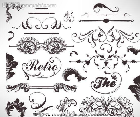 欧式花边 欧式 花边 图案 图腾 矢量图 底纹 花纹 花纹花边 底纹边框