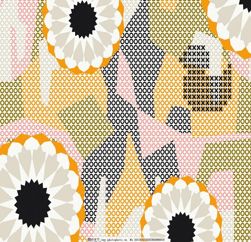 花纹背景 花版 印花 底图 几何 花朵 花边花纹 底纹边框 设计 72dpi j