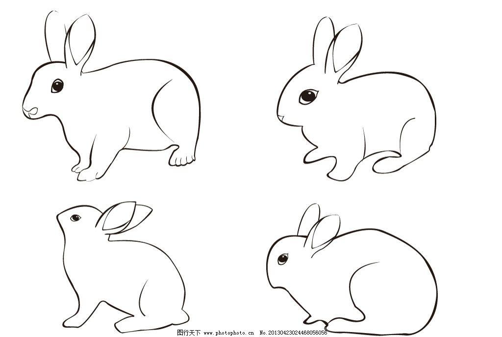 兔子 兔子剪影 兔 小白兔 小兔 兔子简笔画 兔子矢量图形 可爱动物 动-