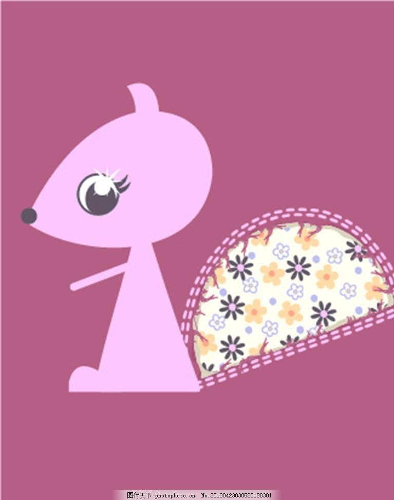 小松鼠 小动物 插画 背景画 动漫 卡通 时尚背景 背景元素 图画素材