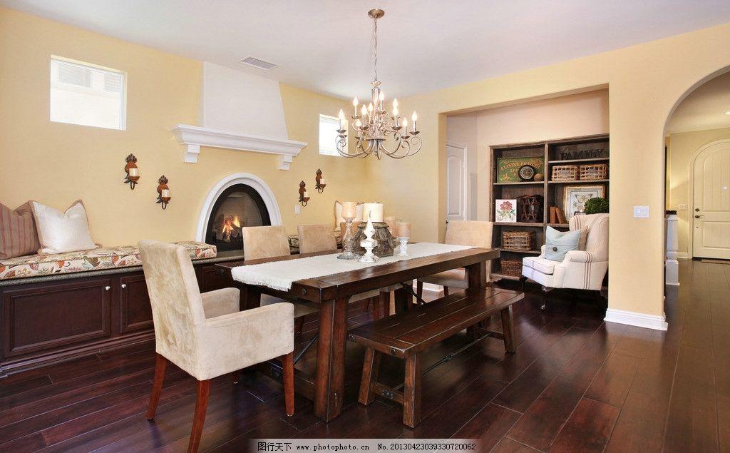 别墅室内实景图 北欧风格 美式 装修 大厅 会所 椅子 餐厅 桌布 艺术
