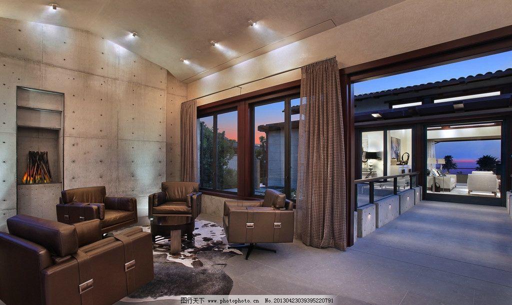 效果 北欧风格 美式 装修 大厅 真皮沙发 绿植 靠垫 吊顶 书架 木地板