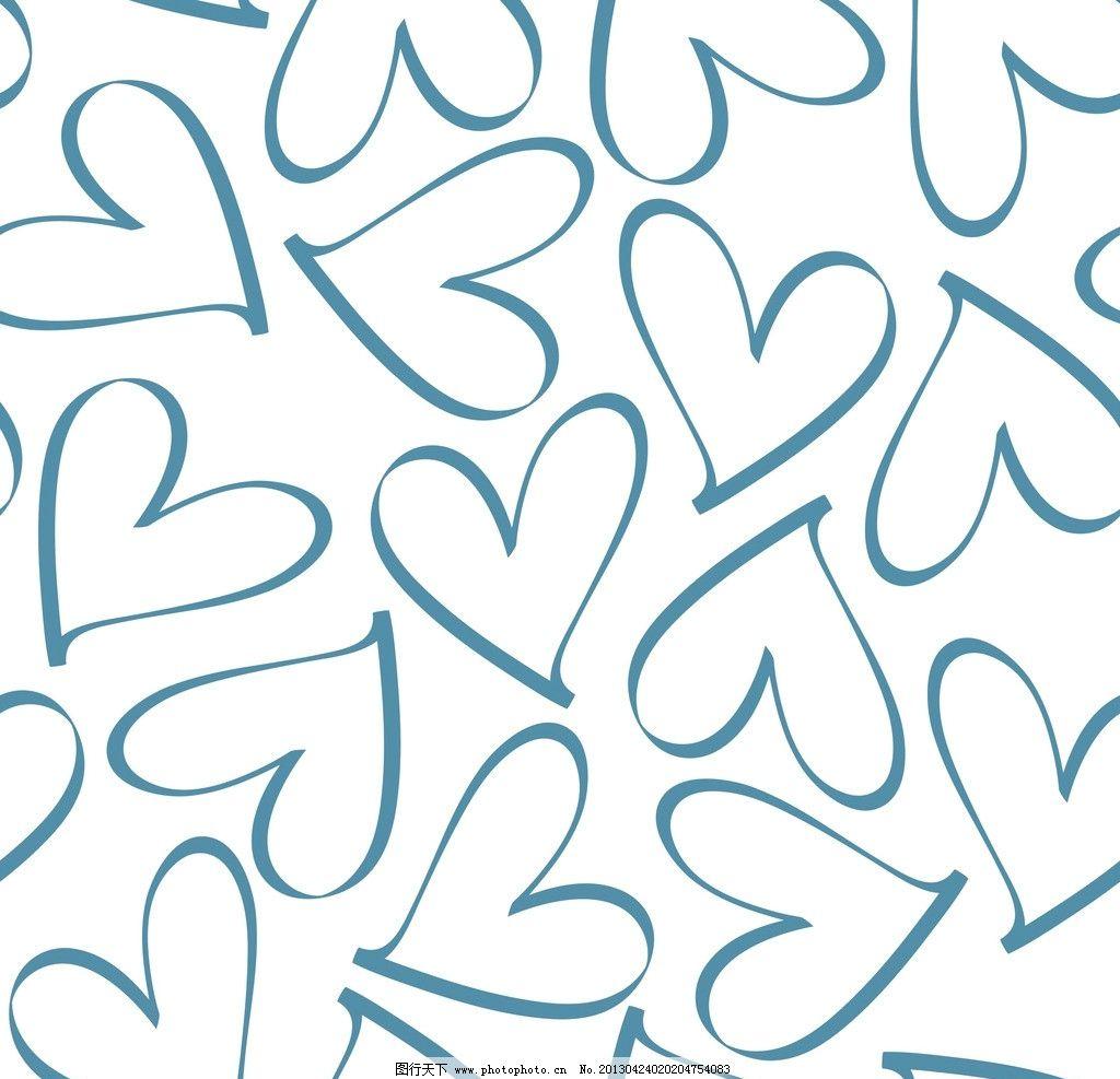 爱心 心型 印花 可爱 卡通 花儿 点点 底纹背景 底纹边框 矢量 cdr