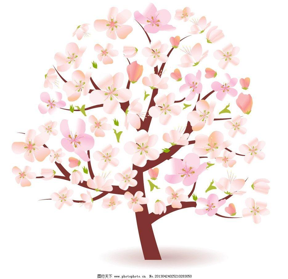 一树桃花简笔画步骤