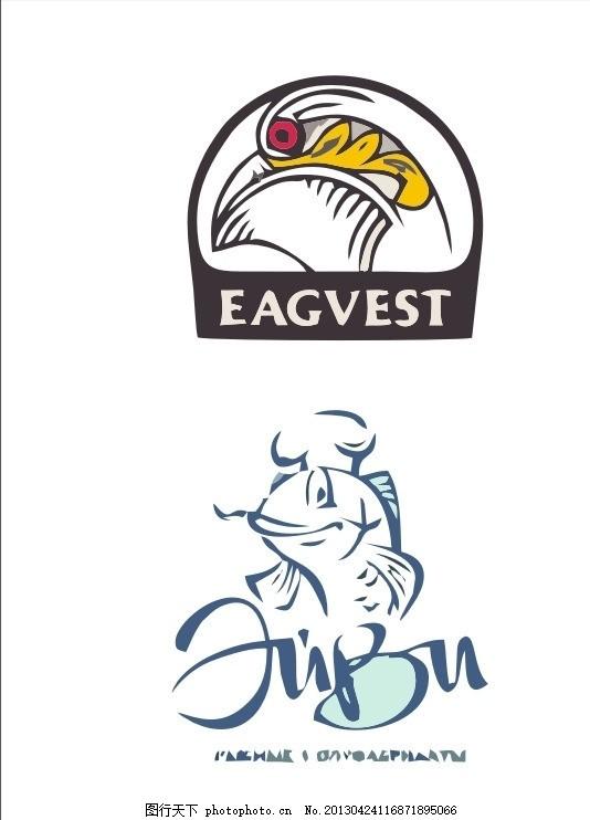 外国logo 鱼 鹰 外国 国外 西方 欧美 西式 欧式 简洁 简单      vi