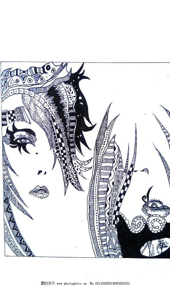 黑白装饰画 装饰画 平面设计 沥粉贴金 72dpi 人物 绘画书法 文化艺术