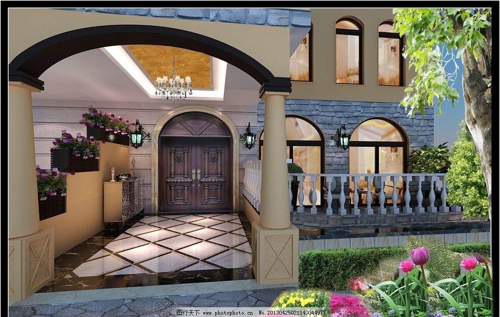 欧式入户门厅 欧式 罗马柱