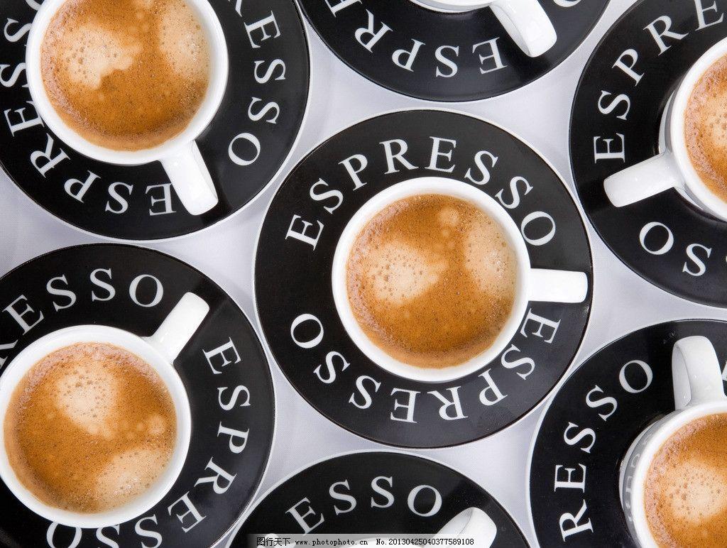 俯视咖啡杯图片