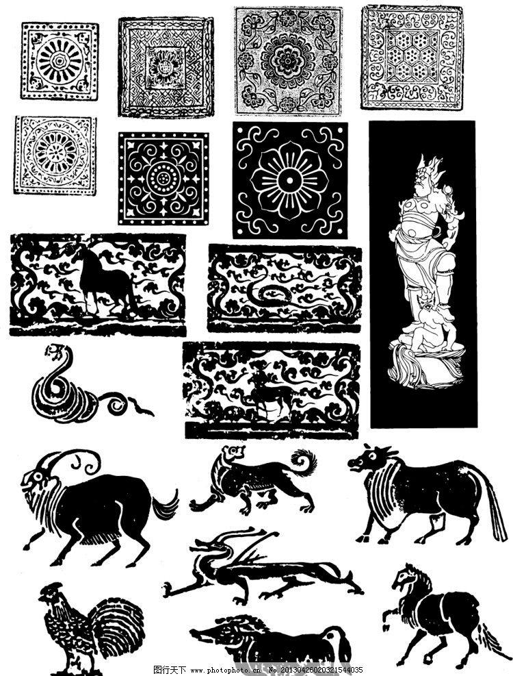 传统花纹 传统 花纹 佛像 观音 佛 花鸟 龙凤 动物 生肖 花瓶 陶瓷瓶