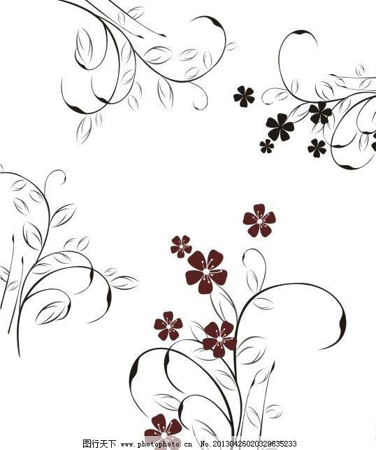 藤蔓 花 其他矢量 矢量素材 藤与花 矢量图库 cdr 花纹花边 底纹边框