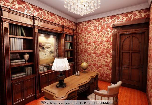 欧式书房图片_其他_3d设计