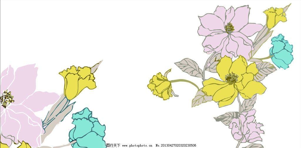 花纹 装饰壁画 欧式花纹 韩式花纹 经典花纹 花瓣 蝴蝶 花蝴蝶