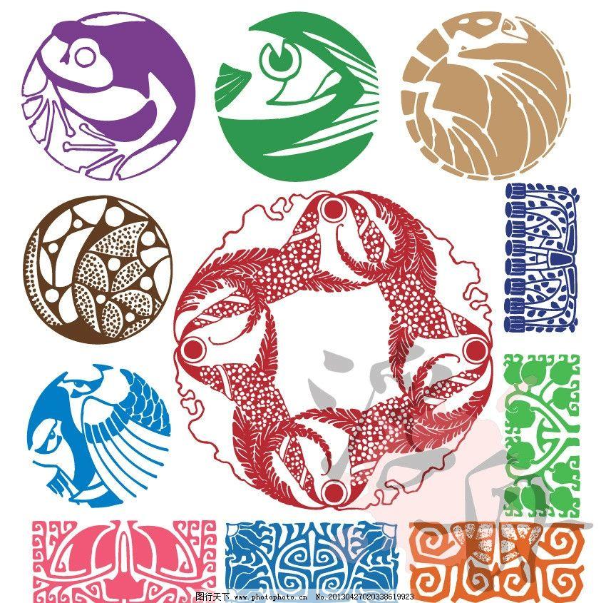 抽象动物吉祥图案图片