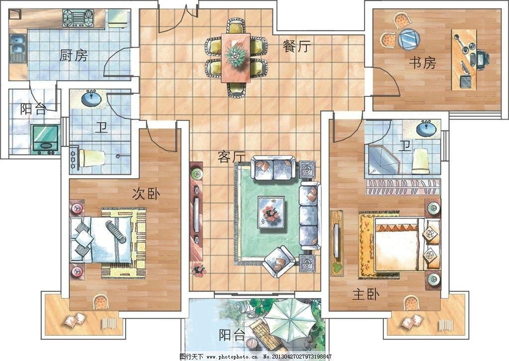 户型 平面 平面图 彩平图 室内 布置 室内设计 环境设计 设计 房地产