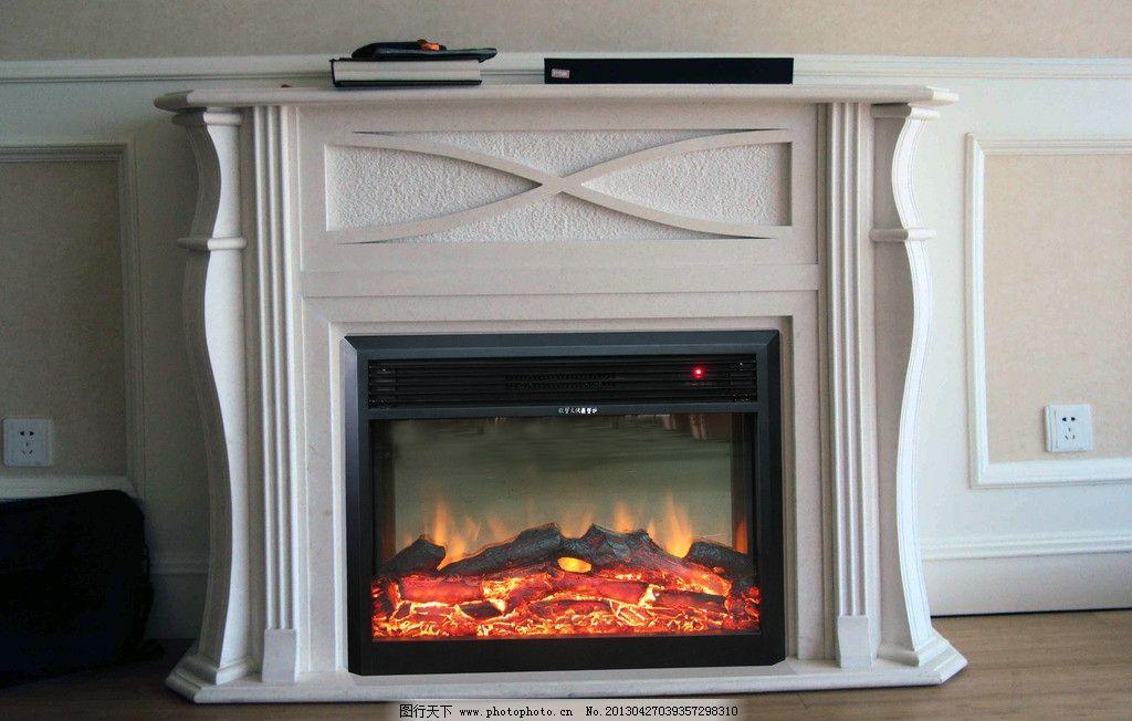 大理石伏羲欧式电壁炉图片