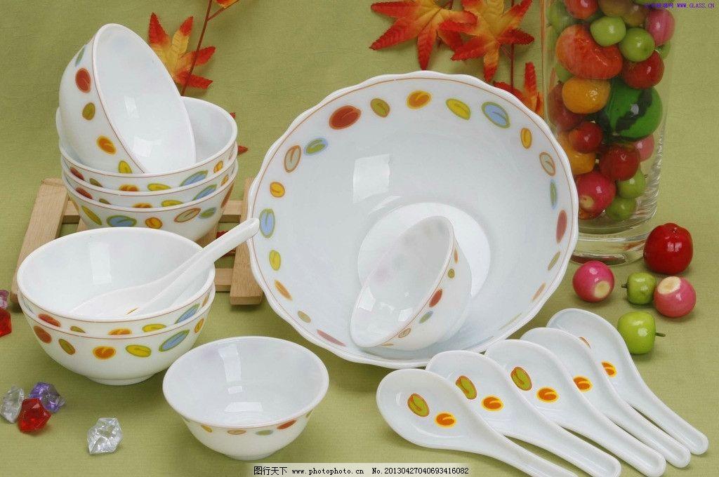 餐具 碗 盘子 勺子 汤勺 瓷器 餐具厨具 餐饮美食 摄影 72dpi jpg