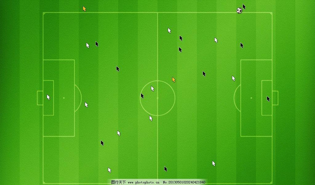 足球场 绿色 背景 手绘 足球 背景底纹 底纹边框 设计 72dpi jpg